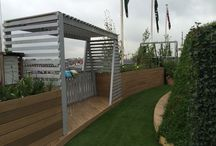John Lewis Roof Garden / Garden designed by Tony Woods for John Lewis Oxford Street. Planted by Garden Club London
