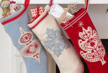Christmas decoration ideas / Idea for workshops at sew creative and home.