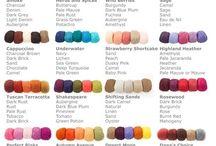 Colour chart knitting