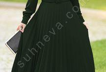 Piliseli Armağan Elbise / tesettür tesettür giyim tesettür elbise