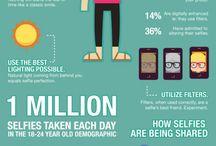 Infographics / Infographics σχετικά με το web design και τα social media