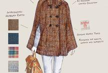 Autumn/Winter 2015/2016 Line / Sketches of Line 2 Ladies Harris Tweed capes