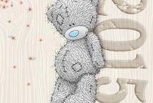 Мишки Тедди с голубым носом