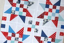 Red, White and Blue blocks and quilts