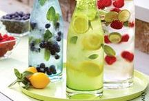 Flavored water, smoothies