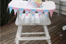 Kids chair and high chair decor