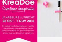 Kreadoe 2015 Utrecht / Tijdens KreaDoe is elk jaar weer van alles te doen en te beleven! Of je nu stempelt, aan Mixed media doet of scrapt, je vindt het allemaal op KreaDoe. Net als de leukste workshops, activiteiten en meet & greets.  Scrapbookdepot is te vinden op stand: 07.H041, 07.H043. Dezelfde plek als vorig jaar. Wij nemen je bestelling ook graag mee naar de Kreadoe.