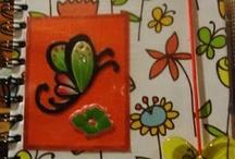 Tonia Artesanato - Scrapbooking / Scrap em capas de agendas, cadernos, cadernetas; álbum de fotos; álbum de assinaturas; caixas; etc / by Salette Soares