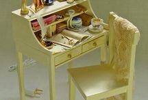 Dollhouses - Miniatures-Ladies Writting Desk