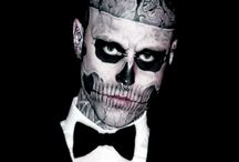 "Rick ""Rico the Zombie"" Genest / Rick Genest (born August 7, 1985) is a Canadian artist and fashion model born in Montreal. He is also known as Zombie Boy for being tattooed like a corpse across the majority of his body. Best known for his appearance in Lady Gaga ""Born this way"" Video. / by Marisa Giustino"
