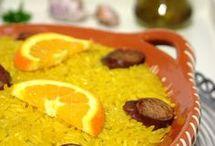 arroz de frango com açafrão