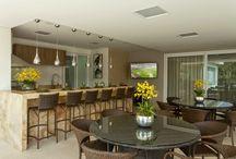 Área gourmet e cozinha