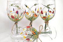 verres fleurs