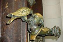 door - handles, knockers, bells