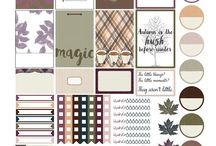 Fall Planner Stickers / Every kind of fall planner stickers