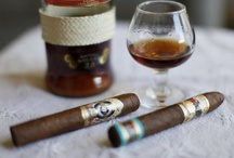 """Liquor and Cigars / """"My rule of life prescribed as an absolutely sacred rite smoking cigars and also the drinking of alcohol before, after and if need be during all meals and in the intervals between them"""" - Winston Churchill"""