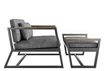 sofa z metalu