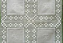 toalhas de crochet