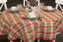 Checkered table linens