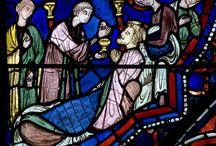 středověké vitraje - stained glass - glasmalerei