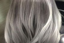 silver,grey and platinum hair