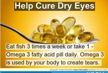 Omega 3 - Dry eyes - Sécheresse oculaire - yeux secs