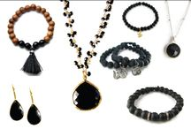 Black Onyx Gemstone Jewelry - Protection  / Onyx is associated with protection, wisdom, good fortune and happiness. It also encourages marital happiness and spiritual inspiration. It is a gem thought to enhance determination and perseverance
