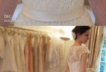 A line wedding