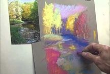 How tot paint with pastels