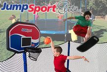 JumpSport Elite Trampolines / JumpSport Elite Trampolines offer a soft landing and a big bounce. These high quality trampolines feature a net enclosure to keep the kids safe as the jump to their hearts' delight.
