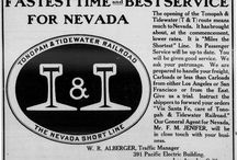 Nevada Railroad / Advertisements for the Las Vegas and Tonopah Railroad, Los Angeles and Salt Lake Railroad, and Tonopah and Tidewater Railroad