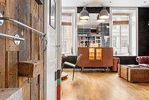 Small apartment with industrial and male footprint