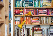 Bookshelves. / Shelf accessorizing and organization