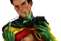 Damian Wayne / This is about Damian Wayne. He is the true son of Batman -or known as Bruce Wayne- his mother is Talia Al'Ghul.