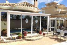 Silver Solar Reflective Window Film / Fitted with Clearview Tint Silver Solar Reflective film Reduce Heat intake by 79% Reduce UV rays by 99% Eliminates Glare Provides daytime privacy .....and looks fantastic  Available in other colours. Look at our website www.clearview-tint.com  CLEARVIEW TINT operate in Spain, covering the Costa Blanca North & South
