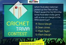 A fun filled TRIVIA! / In this World Cup 2015, we thought of turning ON our gaming mode by simply checking how well know our CRICKET! This gave birth to CRICKET TRIVIA Contest. Explore what fun we had...Sadly just a bit ;) / by Bag It Today