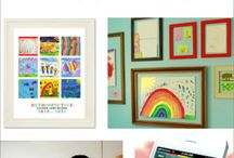 Art Displays for Kids Art / Validate your child's artwork by creating your own art display or diy gallery space