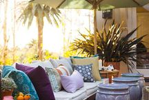 Colorful outdoor room