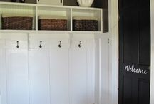 Organized Garage / Solutions and ideas for an organized garage, organized mudroom area, DIY garage organization solutions, DIY entryway solutions, DIY storage for garages & outdoor spaces.