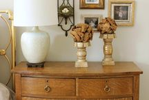 guest bedroom / with antique pieces / by Linda Fuller