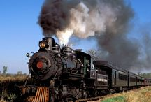Trains / A train trip might be fun.  My Grandmother traveled by train. A nostalgic yearning ...the train whistle is calling.