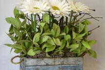 faux real flower arrangements
