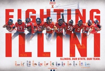 Illini Team Posters / Fighting Illini Athletic team posters. #Illini / by Fighting Illini Athletics