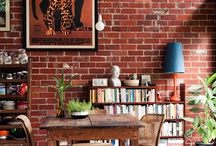 Paredes de ladrillo [] Brick walls / Un montón de paredes con ladrillo viejo, mi revestimiento preferido para un ambiente tipo loft e industrial [] A lot of brick walls, perfect covering for loft style interiors.