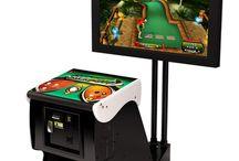 arcade video game (golf)