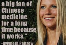 Who Uses Acupuncture? / Quotes and pictures of celebrities and others who use TCM and acupuncture.