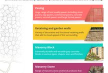 Infographics - APC / Get an idea about different pavers and their features to make the right choice of pavers for your landscape. Australian Paving Centre presents an infographic on types of pavers.