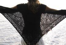 brei patroon vleermuis om slag doek