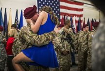 Homecoming / Homecoming reunions of deployed troops and their families.