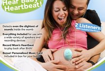 WombMusic - Hear Your Baby's Heartbeat / Womb Music is a Personal Sound Amplification Product that allows you to hear your baby's sounds like kicks, movement and heartbeats.  Safe and non-invasive, Womb Music promotes bonding with your baby for both mommy and daddy with the two earbud sets provided. Includes a digital download of Personalized Lullaby Music for your baby (Included Bonus).  You can even record the sounds to your computer to listen to later when the baby is older - a timeless keepsake.